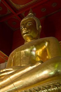 tall golden buddha